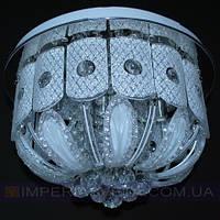 Дисковая люстра     LED  пятиламповая с пультом дистанционного управления и диодной подсветкой KODE:503445