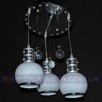 Дисковая люстра     LED трехламповая со светодиодной подсветкой KODE:510250