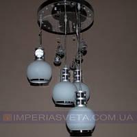 Дисковая люстра     LED четырехламповая со светодиодной подсветкой KODE:510202