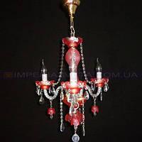 Люстра хрустальная(стеклянная) свеча трехламповая KODE:401440