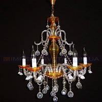 Люстра хрустальная(стеклянная) свеча шестиламповая KODE:401365