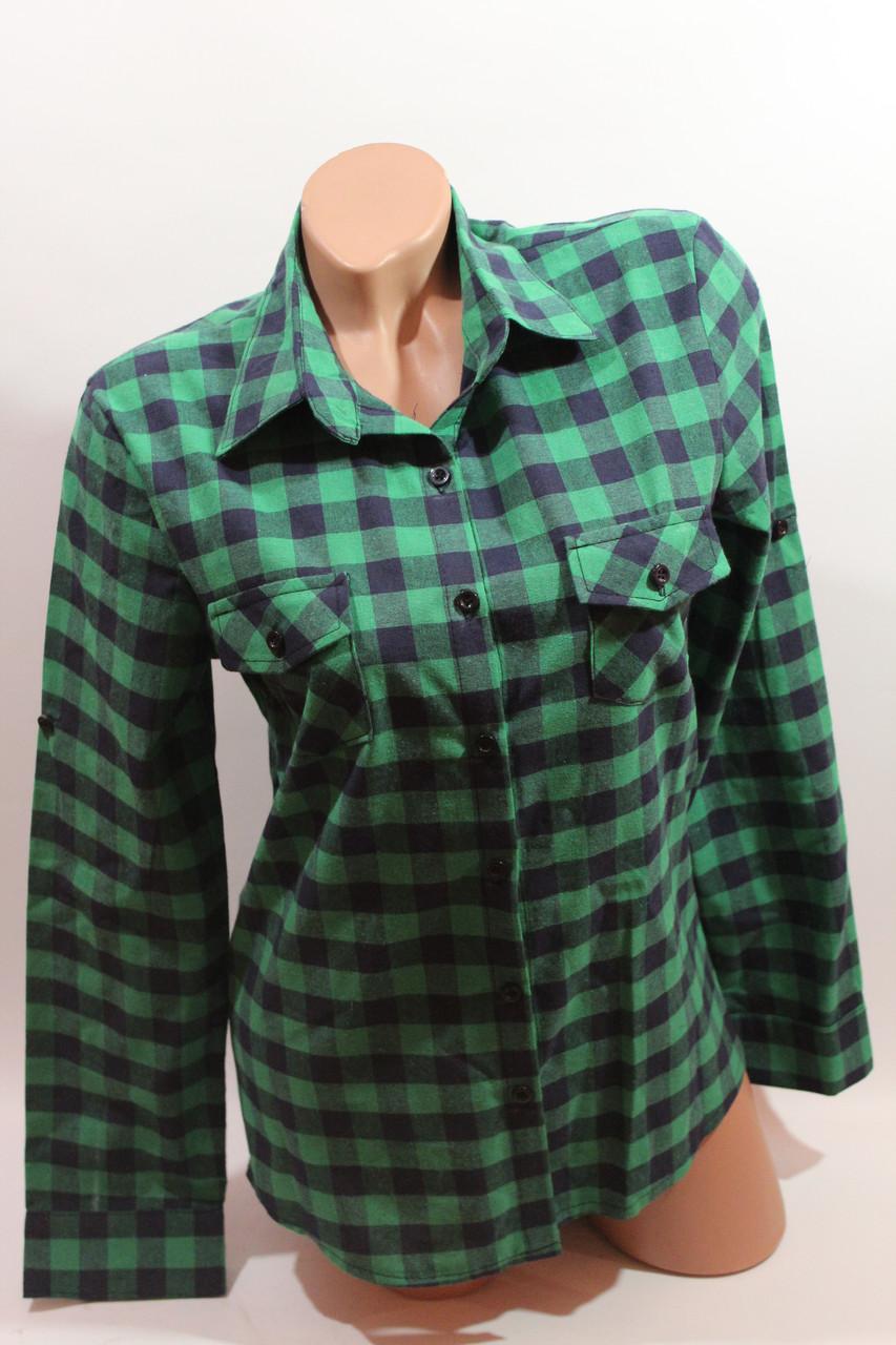 3a1a2def6fd Купить Женскую рубашку в клетку VSA зеленый+синюю в Хмельницком от ...