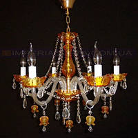 Люстра хрустальная(стеклянная) свеча шестиламповая KODE:401501