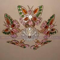 Люстра потолочная хрустальная для низких потолков пятиламповая KODE:365564