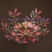 Люстра потолочная хрустальная для низких потолков восьмиламповая KODE:450553