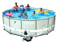 Бассейн Intex 28324 каркасный 488x122 см., Песочный фильтр (полный набор)