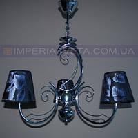 Люстра в классическом стиле трехламповая с абажурами KODE:503532