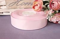 Лента репсовая 2,5 см оптом бледно-розового теплый оттенок