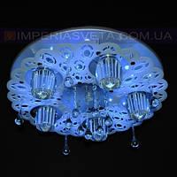 Светодиодная люстра LED восьмиламповая KODE:522155
