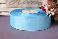 Лента репсовая 2,5 см оптом небесный голубой