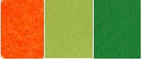 Набор  фетр листовой_зеленый, оранжевый 2,0 мм