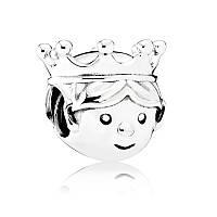 Шарм Драгоценный принц из серебра 925 пробы пандора (pandora)