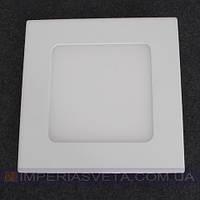 Светодиодный LED светильник панель 3W сверхтонкий квадрат встраиваемый KODE:525252