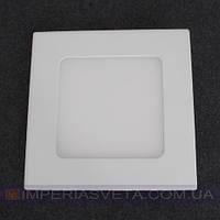 Светодиодный LED светильник панель 6W сверхтонкий квадрат встраиваемый KODE:523004