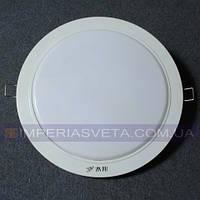 Светодиодный LED светильник панель 8w круг встраиваемый KODE:531236