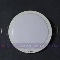 Светодиодный LED светильник панель 12w круг встраиваемый KODE:530666