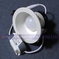 Светодиодный LED светильник 3w круг встраиваемый KODE:531256