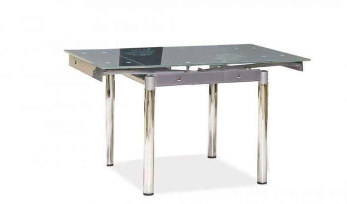 Стол стеклянный раскладной GD-082 серый (Signal TM)