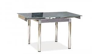 Стол стеклянный раскладной GD-082 серый (Signal TM), фото 2