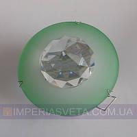 Точечный светильник для подвесных и натяжных потолков с кристаллом KODE:316311