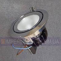 Точечный светильник для подвесных и натяжных потолков неповортотный со стеклом KODE:113246
