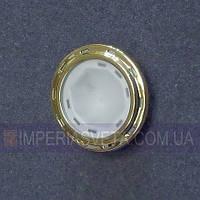 Подсветка светильник для мебели, полок, шкафов галогенная встраиваемая со стеклом KODE:126101