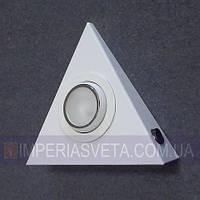 Подсветка светильник для мебели, полок, шкафов галогенная накладная со стеклом поворотная KODE:124665