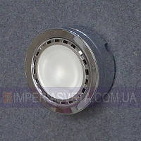 Подсветка светильник для мебели, полок, шкафов галогенная накладная со стеклом KODE:124654