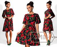 """Стильное молодежное платье мини """" Цветы """" Dress Code"""