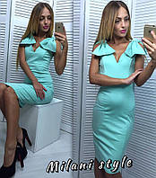 Платье с большими бантами на плечах