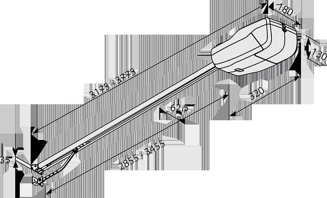 Габаритные размеры автоматики BFT Tiziano