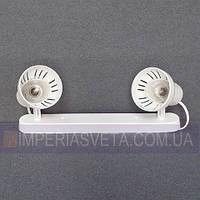Поворотный спот светильник для освещения стен и потолков планка двухламповая KODE:101420