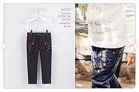 Котоновые брюки для девочки р-ры 92,98,104,110,116