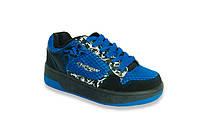 Детские кроссовки с роликами 12H3 сине-черные
