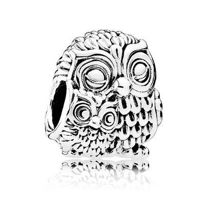 Шарм Очаровательные совы из серебра 925 пробы