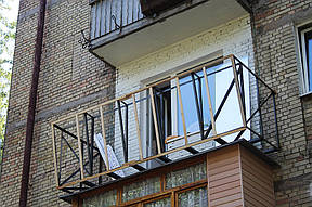 """Балкон под ключ в кирпичной хрущевке. подробная фото-смета"""" ."""