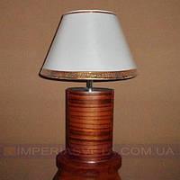 Лампа настольная в декоративном стиле светильник одноламповый с абажуром KODE:432024