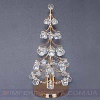 Лампа настольная в декоративном стиле светильник двухламповая хрустальная елка KODE:434336