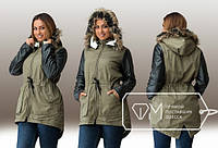 "Стильная  женская куртка для пышных дам "" Парка "" Dress Code"