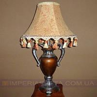 Лампа настольная в декоративном стиле ночник одноламповый с абажуром KODE:434036