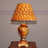 Лампа настольная в декоративном стиле ночник одноламповый с абажуром KODE:502020