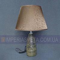 Лампа настольная в декоративном стиле ночник одноламповый с абажуром KODE:440222