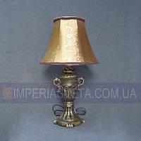 Лампа настольная в декоративном стиле ночник одноламповый с абажуром KODE:334054