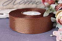 Лента репсовая 2,5 см оптом коричневого цвета