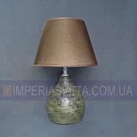 Лампа настольная в декоративном стиле ночник одноламповый с абажуром KODE:440223