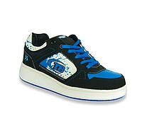 Кроссовки ролики 12H5 черно-синие