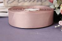 Лента репсовая 2,5 см оптом серо-кофейного цвета № 20, фото 1