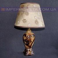 Лампа настольная в декоративном стиле ночник одноламповый с абажуром KODE:425634
