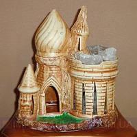 Декоративная лампа соляная светильник замок малый KODE:120613