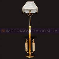 Торшер напольный со столом с абажуром и дополнительной подсветкой основания KODE:335126